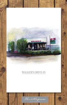 Walker's Drive-In print from Jackson, MS collection $20