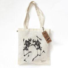 "Bon Matin tote bag ""Skelette No.4"""