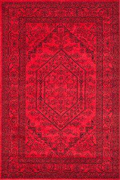 Beautiful red rug.