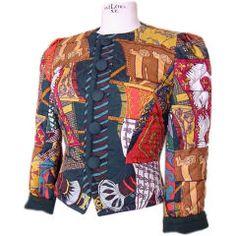 Hermes Scarf Print Jacket