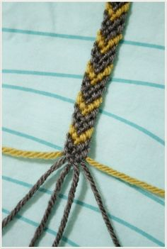 How to braid a chevron friendship bracelet.