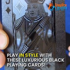 Black Diamond Cards - ⭐⭐⭐⭐⭐ (5/5) Amp up the style in your game with these Waterproof Black Diamond Playing Cards! The unique artistic aspect of these cards adds eye-appealing value and makes them way more fun to use than a typical deck of playing cards. Currently 50% OFF with FREE Shipping!