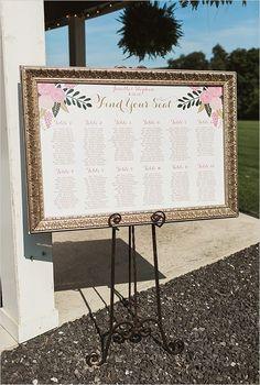 framed seating sign | seating chart ideas | elegant wedding details | #weddingchicks
