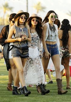 Selena Gomez, Kylie Jenner, and Kendall Jenner at the 2014 Coachella Valley Music & Arts Festival on April 11th