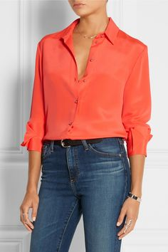 Roksanda | Tiernan silk-marocain shirt | NET-A-PORTER.COM
