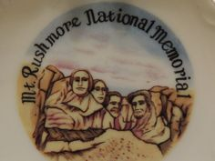 Mt Rushmore Plate National Memorial by PurveyorsOfFineJunk on Etsy