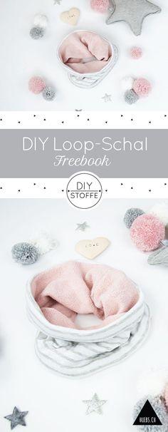 DIY Loop-Schal selber nähen - Anleitung & Schnittmuster als Freebook bei diy-stoffe.de