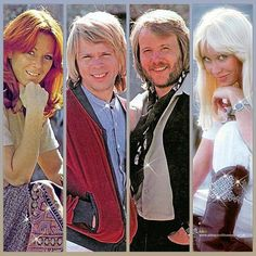 Great photos of Friday, Bjorn, Benny and Agnetha.