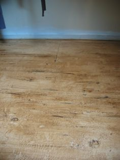 Faux Gray Wood Plank Painted Subfloor This Is Effortless