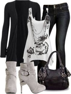 Black outfits with shoes and handbag