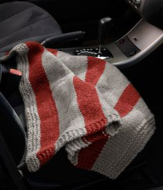 Compact Car Blanket - love the colors - Go Bucks!