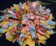DORA 16 Ribbon Wreath for Parties Birthdays by NannysSurprise
