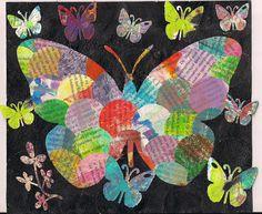 butterfliecrafter: junky butterflies (junk journal page #2) #junk journaling #butterflies #booktext
