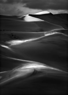 "Serpent's Tail - For print inquiries, please contact susan@tonysweet.com. This classic top of the Great Sand Dunes is a huge ""S"" curve. The strong side light sunset, gently lights up the blowing sand"