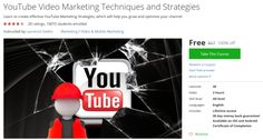 YouTube Video Marketing Techniques and Strategies http://ift.tt/1ZnvkVh  #udemy #coupon #discount