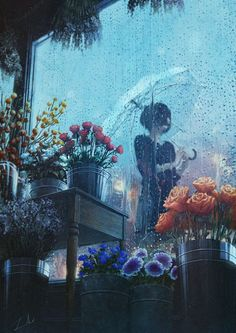 Find images and videos about art, anime and flowers on We Heart It - the app to get lost in what you love. Art Anime Fille, Anime Art Girl, Manga Art, Aesthetic Art, Aesthetic Anime, Aesthetic Beauty, Art Inspo, Bel Art, Drawn Art