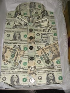 NAPA Balkamp has a tradition (started out as a Money Tree) of collecting money from workmates as a farewell gift to a retiring employee This one was made for Tom Lowery's retireement party. He was one classy guy!