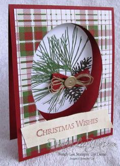 Ornamental Pines Christmas Wishes By Wendy Lee, Oct 2014 FMN class, #creativeleeyours, SU cards