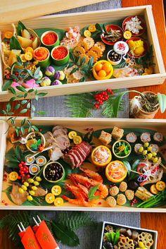 おせち料理 in 2020 Sushi Bar Design, Food Design, Japanese New Year Food, Sushi Platter, Vegetable Appetizers, New Year's Food, Sushi Recipes, Culinary Arts, Food Gifts