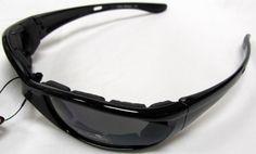 Undercover Eyewear Sleek Gasket: Decentered optically correct lenses.  TR90 graphite nylon frames.  Helmet friendly arms.