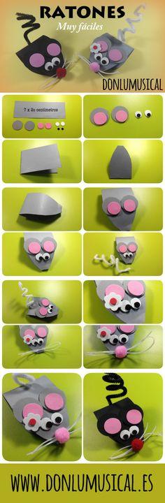 ratones manualidades goma eva carton donlumusical
