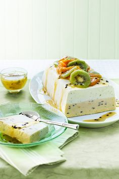 Layered Lime, Mango and Passionfruit Ice Cream Terrine (click on the link)