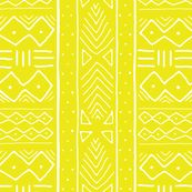 Mudcloth in citron by domesticate