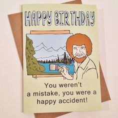 Bob the Happy Painter!  On of my favorite guys.  ;) hilarious cards by #atomicspinster (at Inkling)