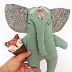 Sewing Projects Toys Stuffed Elephant Ideas Sewing Projects To… – Monkey Stuffed Animal Softies, Sewing Toys, Sewing Crafts, Sewing Projects, Sewing Ideas, Doll Patterns, Sewing Patterns, Bear Patterns, Handmade Stuffed Animals