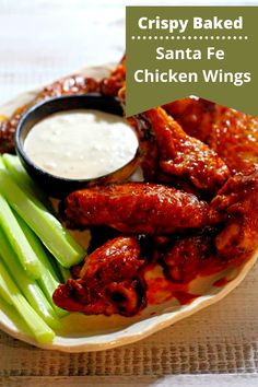 Oven Roasted Chicken Wings, Crispy Oven Baked Chicken, Mexican Chicken Recipes, Healthy Chicken Recipes, Appetizer Recipes, Appetizers, Spicy Wings, Buffalo Wings, The Ranch