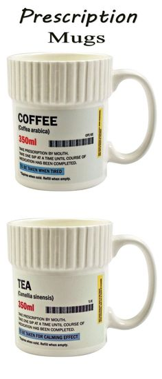 Prescription Mugs || #coffee #tea