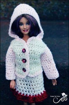 free crochet pattern for Barbie jacket