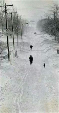 My first blizzard. Toledo Ohio 1978
