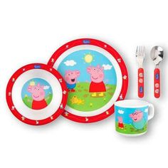 Peppa Pig kinderservies melamine 5-delig.