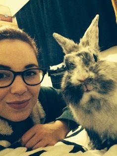 Selfie with my little rabbit