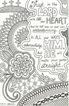 Inspirational ZentangleInspired Doodle by plhill0506 on Etsy