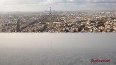 Paris 'normal' et Paris hier: #pollution pic.twitter.com/b2OefBCZik