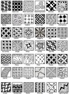 Official Zentangle patterns