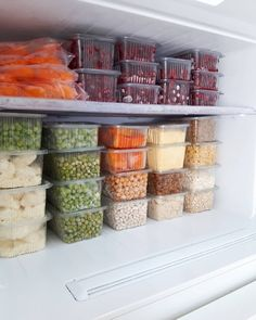 Image may contain: 1 person, food and indoor Freezer Organization, Refrigerator Organization, Kitchen Drawer Organization, Diy Kitchen Storage, Home Organization Hacks, Kitchen Pantry, Home Decor Kitchen, Interior Design Kitchen, Organizing