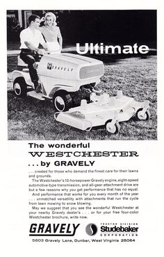 The Gravely Westchester, 1964. Studebaker Corporation Tractor Division.