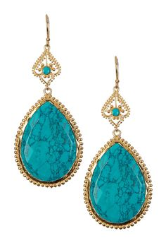 What's not to love about these turquoise teardrop earrings?