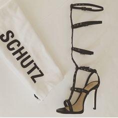 SCHUTZ high heel leather gladiator sandals New with box SCHUTZ Shoes Sandals