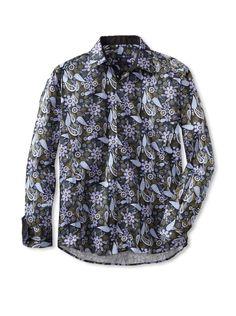 Stone Rose Men's Paisley Woven Shirt (Automn) #Shirt #Dress #Men #ShirtsSweaters