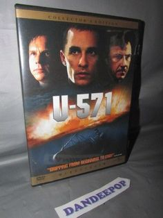 U-571 (DVD, 2000) Matthew Mcconaughey #u571 #matthewmcconaughey #dvd #collectorsedition #movie #dandeepop Find me at dandeepop.com