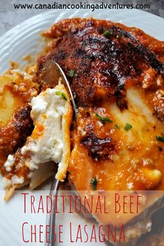 This Traditional Beef and Cheese Lasagna reminds me of something my Mother use to make me. #traditional #Beef #Cheese #Lasagna #baked #ricotta #easy #oven Best Low Carb Recipes, Fun Easy Recipes, Budget Recipes, Quick Dinner Recipes, Side Dish Recipes, Quick Easy Meals, Favorite Recipes, Chicken Pasta Recipes, Healthy Pasta Recipes