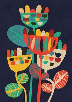 Wild Flowers Art Print by Budi Satria Kwan