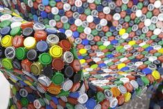 BRC Designs' Colorful Capped Out Chair is Made From Hundreds of Recycled Bottle Caps