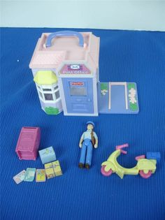 Fisher Price Sweet Streets Post Office Playset w/ Accessories 100% COMPLETE! #FisherPrice