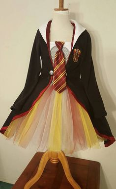 Harry Potter Tutu Dress Princess Robe Scarf by tutuspluskidsshop