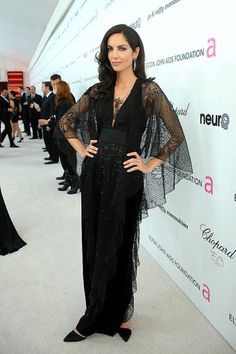 Eugenia Silva (Oscars 2010) ~sheer over arms